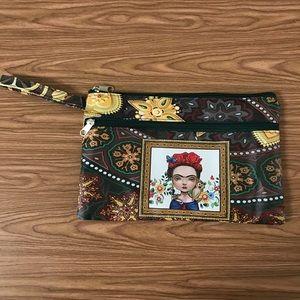 New Frida Kahlo Wallet Clutch Bag